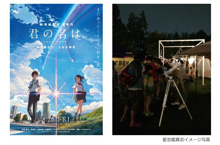 映画「君の名は。」公開特別記念イベント 新宿マルイ本館にて開催「星空鑑賞会&星空講座」に協力