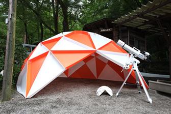 """ネパール大震災の被災者支援、無数に輝く""""星とみんなの想い"""" 「ダレデモドーム作りと星空キャンプ」ツアーに協力"""