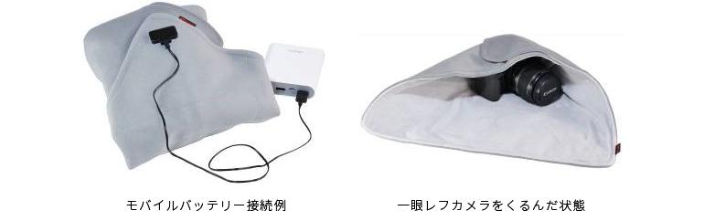 一眼レフカメラも丸ごと包める「ヒーターラップシート」10月6日(木)発売 手軽な夜露対策の決定版