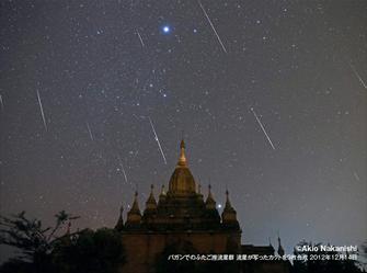 「ミャンマー・ふたご座流星群観察の旅」に協賛