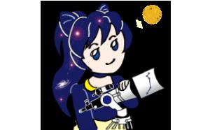 ビクセン公認LINEスタンプ 「宙ガールズメンバーC-osmos(コスモ)ちゃん」が リリースされました。