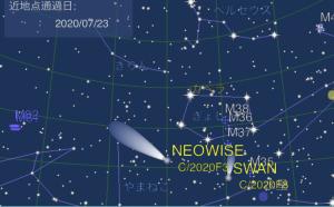 """今見ごろのネオワイズ彗星(C/2020 F3)を観測しよう! """"いつ・どの方角""""に見えるかを調べるアプリ「Comet Book」に ネオワイズ彗星の軌道要素を追加"""