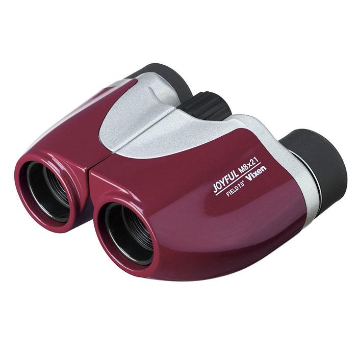Vixen 双眼鏡 ジョイフル M8×21 ボルドーレッド —