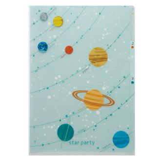 Vixen ステーショナリー 3PクリアフォルダーA4 惑星柄