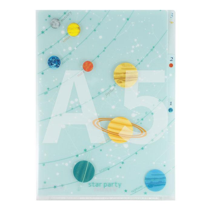 Vixen ステーショナリー 3Pクリアフォルダー A5 惑星柄