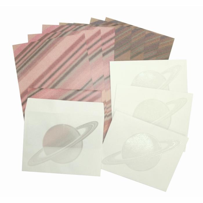 Vixen ステーショナリー 透かし封筒のレターセット 土星 —